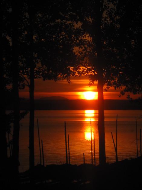 Sunset at Storsjön, Jämtland