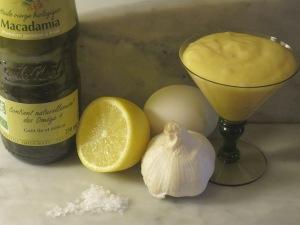 Aioli with macadamia oil...