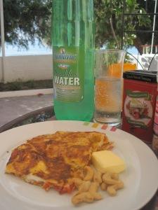 Tomato Omelette in Makrigialos, Crete...