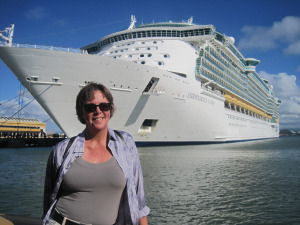 Me in the harbor of San Juan, Puerto Rico...