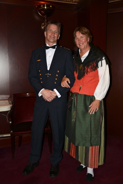 Independence of the Seas Formal Night. I'm dressed in a traditional costume from Offerdal, Jämtland, Sweden. Escorted to the dinner by Major Fredrik Söderlund...