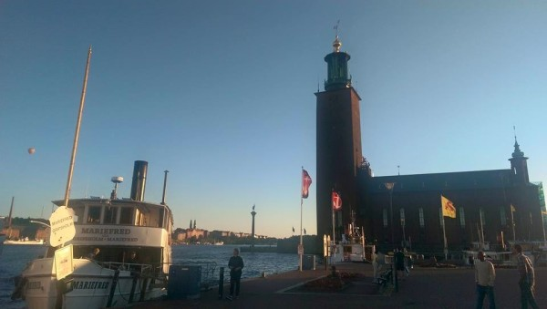 S/S Mariefred and Stockholm City Hall