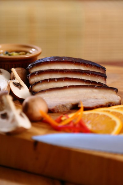 Oven-Roasted Pork Belly with Orange and Chili