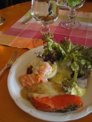 Salmon and Herring from aTraditional Swedish Smörgåsbord