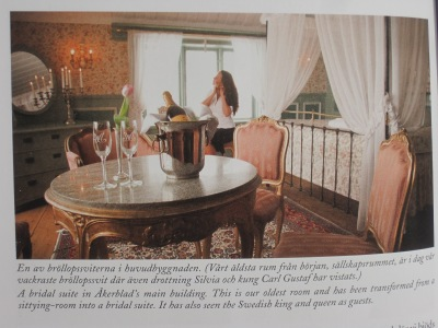 Picture of The Royal Suite from Christina Åkerblad's book about the hotels historical background