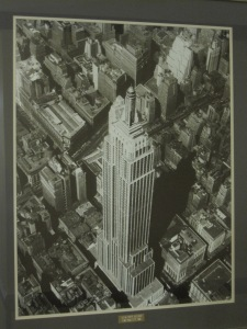 Empire State Building in New York in the 1940's