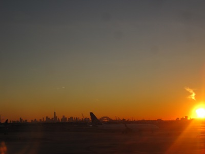 Sunrise in New York...