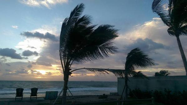 Stormy weather at Fort Lauderdale Beach...
