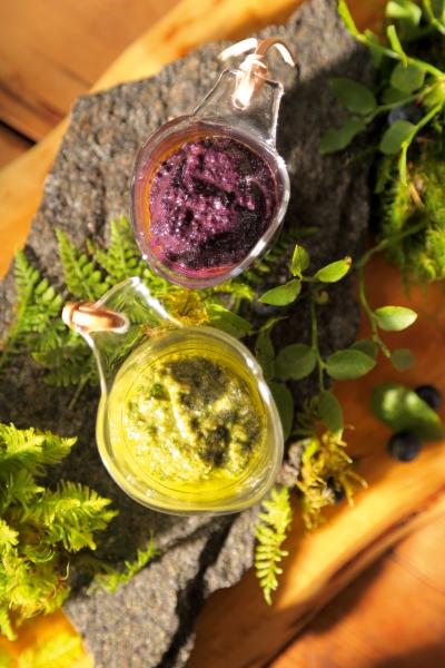 Blueberry and Nettle Pesto Photo; Mikael Eriksson