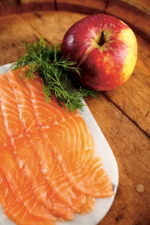 Apple-Cured Salmon at DietDoctor...